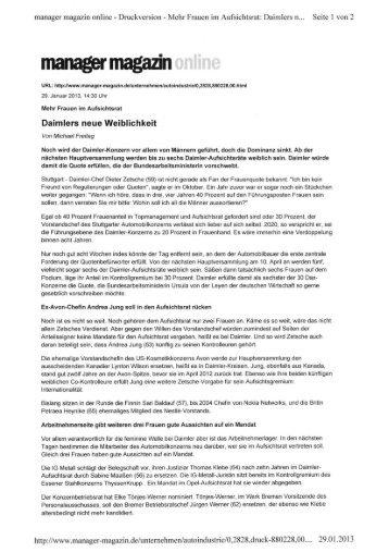 Daimlers neue Weiblichkeit manager magazin online Stuttgart ...