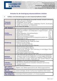 Hinweise für die Anfertigung wissenschaftlicher Arbeiten 1. Aufbau ...