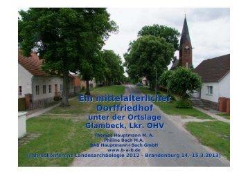 Ein mittelalterlicher Dorffriedhof - BAB Hauptmann und Bach GmbH