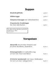 Suppen Vorspeisen - Hessenstube