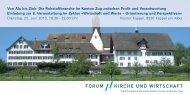 Einladung - Forum Kirche und Wirtschaft
