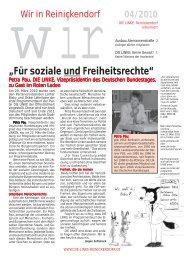 """""""Für soziale und Freiheitsrechte"""" - Reinickendorf"""