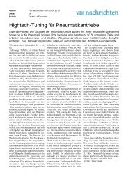 Hightech-Tuning für Pneumatikantriebe - Bayern Kapital