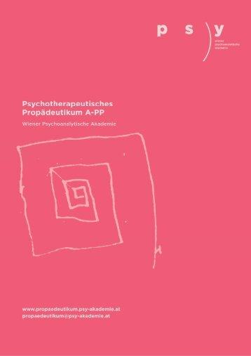 Informationen zum Psychotherapeutischen Propädeutikum als PDF