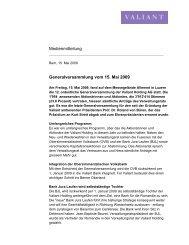 Medienmitteilung (PDF, 21.2 KB) - Valiant Bank