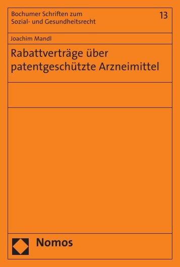 Rabattverträge über patentgeschützte Arzneimittel - Nomos