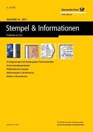 Ausgabe 14 - 2011 | 8. Juli 2011 - Deutsche Post - Philatelie