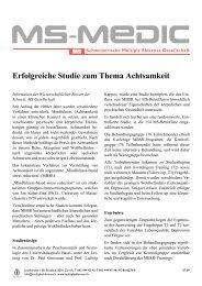Erfolgreiche Studie zum Thema Achtsamkeit - Schweizerische ...
