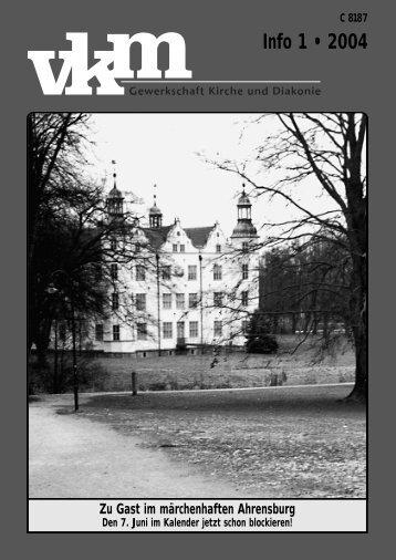 Info 1 • 2004 - vkm Deutschland - Landesverband Baden