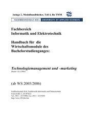 Fachbereich Informatik und Elektrotechnik ... - Fachhochschule Kiel