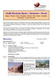 Grosse Rundreise Syrien - Jordanien - Israel - NIX WIE WEG Travel ...