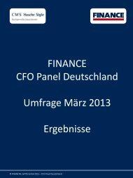 Unserem aktuellen FINANCE CFO Panel zufolge ... - Finance Magazin