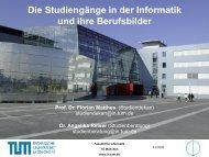 Warum an der TU München studieren? - Fakultät für Informatik