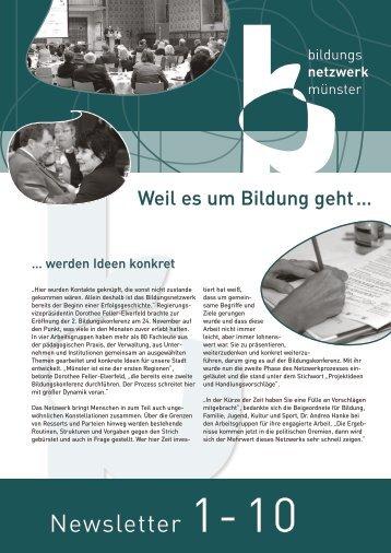 Bildungsnetzwerk Münster: Newsletter 1 - 2010 - Stadt Münster