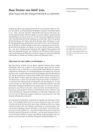 Haus Steiner von Adolf Loos. - Wolkenkuckucksheim