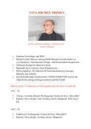 VITA JOCHEN THINIUS - Thinius/Partner
