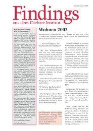 Dichter Institut: «Wohnen 2003 - Hausinfo