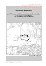 Begründung/ Umweltbericht - Stadt Ibbenbüren