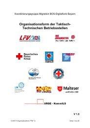 Organisationsform der Taktisch-Technischen Betriebsstellen