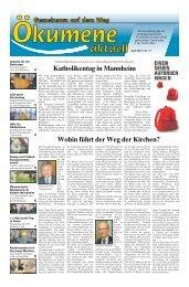Ökumene aktuell Nr 17 - Schwäbische Post
