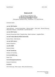Niederschrift öffentlich mit - Sitzung 21.01.2010 Sitzung
