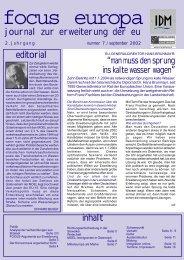 journal zur erweiterung der eu editorial inhalt - Institut für den ...