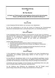 Geschäftsordnung des Arbeitskreises Master of International ... - IIFS