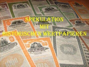 Spekulation mit Historischen Wertpapieren - Hans-Georg Glasemann