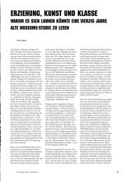 Erziehung, Kunst und Klasse - Nextroom
