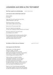 Bibelstellen zum Begräbnis (PDF) - Pfarre Oberndorf an der Salzach