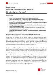 Kompaktinfo: Europas Zukunft - Karin Roth, MdB