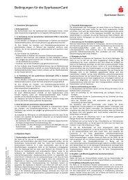 Bedingungen für die SparkassenCard - Sparkasse Düren
