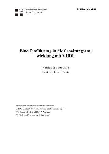 Eine Einführung in die Schaltungsent- wicklung mit VHDL