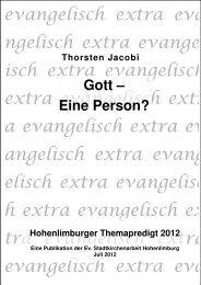 Gott – Eine Person? - Reformiert-hohenlimburg.de