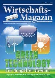 Energiewende. Alternative Energien. Nachhaltige Produktionen in ...