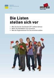 DRV Bund - Die Listen stellen sich vor - Sozialwahl 2011