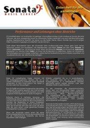 Entwickelt für Mu- sikliebhaber - Sonata Music Server