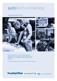 Schulungsprogramm 2013 - hostettler autotechnik ag