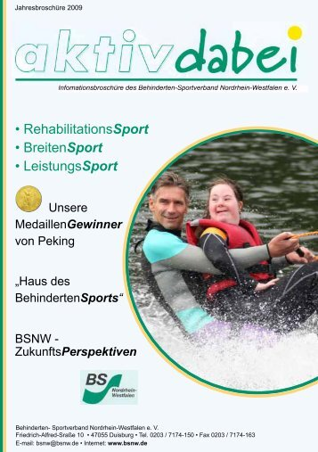 • RehabilitationsSport • BreitenSport • LeistungsSport - handicapsports