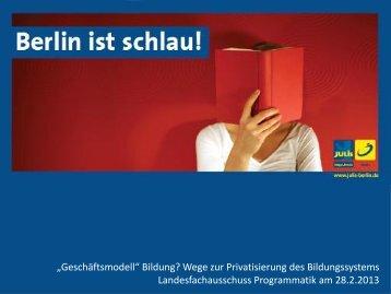"""""""Geschäftsmodell"""" Bildung? Wege zur Privatisierung des ..."""