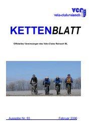 Kettenblatt Februar - Velo-Club Reinach