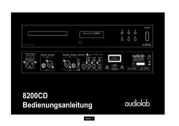 Bedienungsanleitung - IAD-Audio