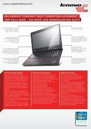 ThinkPad Twist S230u Datasheet - Lenovo