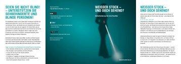 Zum Flyer (PDF) - Tag des weissen Stockes