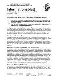 Informationsblatt - Bezirksverband Oberfranken für Gartenbau und ...