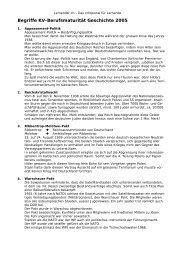 20 geschichtliche Begriffe - Lernender.ch