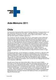 Aide-Mémoire 2011 Chile - Forum Menschenrechte