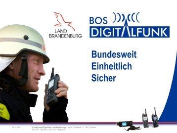 BOS Digitalfunk in Brandenburg - KOSYnet