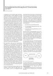 Kompetenzentwicklung durch Forschendes Lernen? - im zhb
