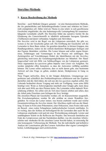"""Die """"Storyline-Methode"""" - Unterrichtsmethoden im konstruktiven und ..."""
